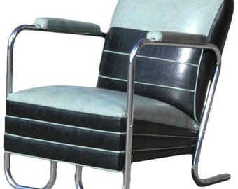 Art Deco Style Jazz Club Chair in the Manner of Kem Weber