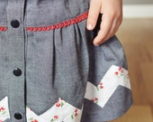 "Betty Skirt PDF Pattern {Newborn - 16X + Bonus 18"" doll} Gathered, Gathered with Placket, Small Pleats, Large Pleats Option Skirt"