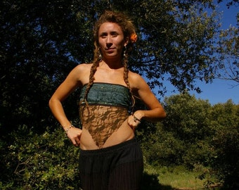 Gypsy fairy lace tube top