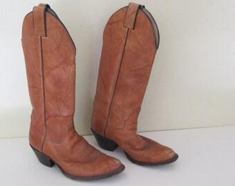 Men's Cowboy Boots 11 D Tony Llama Cowboy Boots  Tan Cowboy Boots Vintage Cowboy Boots
