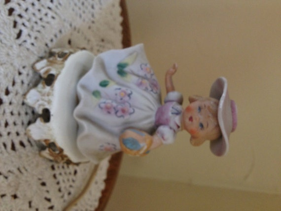 Vintage Little Girl Lamp Made By Underwriters Laboratories