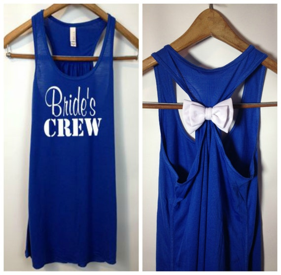 Brides Crew, Nautical Bride Tank, Bridesmaid Tank Top, Maid of Honor Tank Top, Bridal Party Tanks