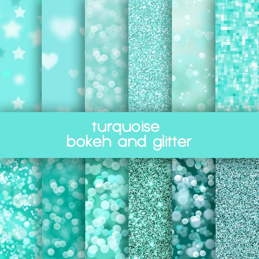 Turquoise Sparkle Wallpaper With Turquoise Glitter
