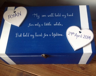 Personalised Baby memory box - extra large