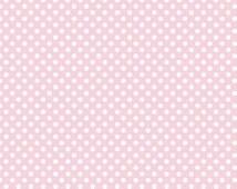 1/2 Yard Baby Pink Small Dots Riley Blake Polka Dots Cotton Fabric By The Yard C350-75 BABYPINK