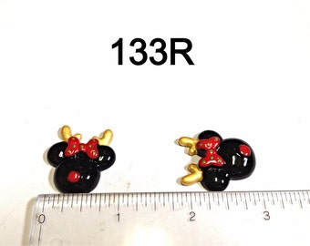 3/5/10 pc Christmas Reindeer Minnie Mouse inspired Flat back Cabochons