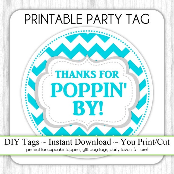 Thanks for Poppin in Printable   just b.CAUSE
