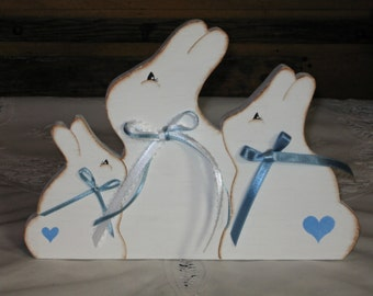 Handmade Wooden Easter Bunny/Spring Decoration