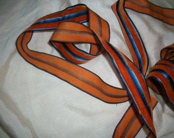 1 yd. silk stripe velvet ribbon incredible shading ribbon work velvet