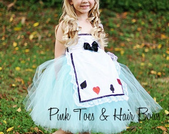 Alice in wonderland  tutu dress- Alice in wonderland costume-  Alice in wonderland Dress