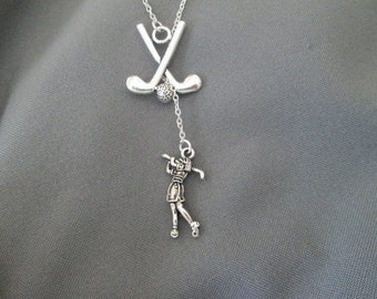 Lady Golfer Necklace - Lariat Style