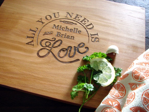 All You Need Is Love Personalized Cutting Board