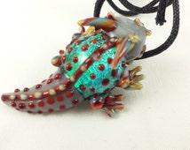 Horned Lizard - Glass Necklace