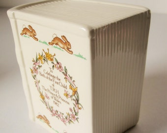 A 'Bunnykins' Bank Celebrating the Birth of Prince William 1982 - Royal Doulton - Made in England - Collectible - Baby Present