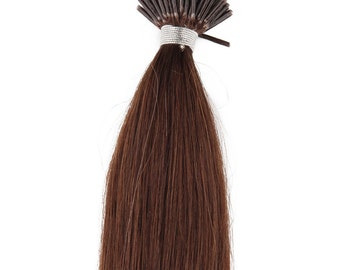 18inc 100grs,100s,Stick (I) Tip Human Hair Extensions 4 Dark Brown