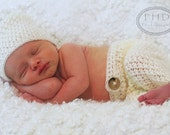 Crochet Pattern - Maxwell in Mohair Beanie and Pants Photography Prop