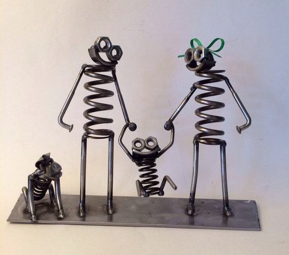 items similar to metal art boogie family on etsy. Black Bedroom Furniture Sets. Home Design Ideas