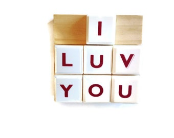 I LUV YOU | I Love You | Fridge Magnets | Home Decor | Office magnet | Gift Idea |  For Her | For Him | For Valentines