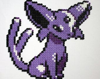 Espeon Pokemon Hama Perler Bead Sprite Gold Silver