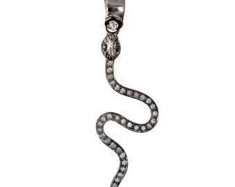 Victorian 1.00ct Rose Cut Diamond Pendent,Free Shipping Worldwide