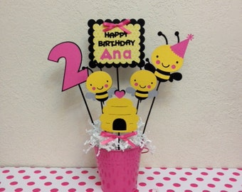 Bumble Bee Birthday Centerpiece - Personalized
