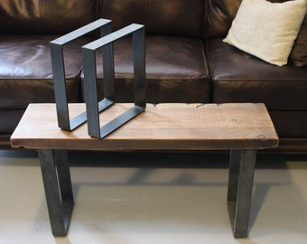 up to 25 off weekend sale metal leg bench leg table. Black Bedroom Furniture Sets. Home Design Ideas