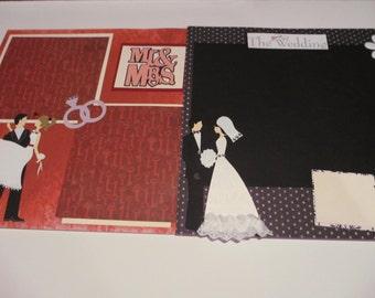 50 off 20 12x12 Complete Wedding Scrapbook Album Pages ANNUAL 50% OFF Scrapbook Sale