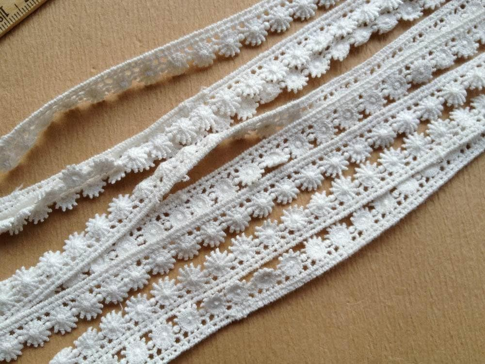 Cotton Lace Trim White Ribbon Lace For Sewing Gift Wrap