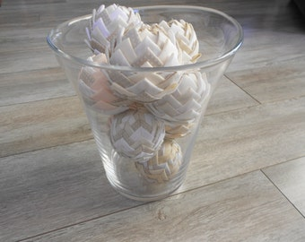 BALL DECORATIVE Shabby chic fabric form Pomme de Pin