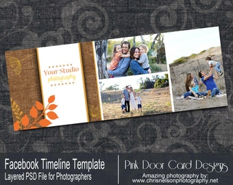 Instant Download Fall Facebook Timeline Cover Template for Photographers - FT4