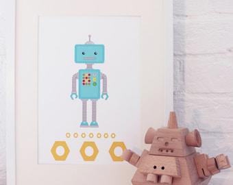 Nursery Print: Robot