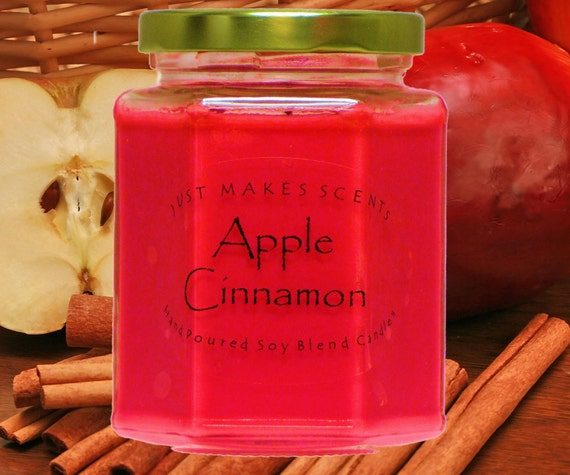 Apple Cinnamon Scented Candle Free Shipping By Ijustmakescents