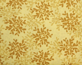 Valorie Wells Nest Leaves fabric VW25 Yarrow Yellow Gold floral leaf pattern Sewing Quilting fabric By the yard 100% cotton Free Spirit
