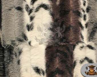 """Minky Cuddle Soft Printed Animal Groove Embossed Fabric 03 BLACK SILVER / 56"""" Wide / Sold by the yard"""