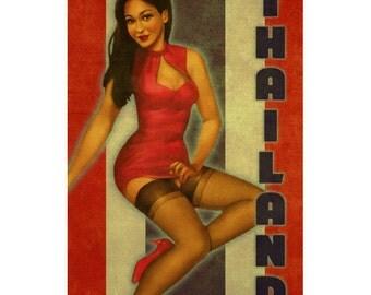 THAILAND 1PS- Handmade Leather Journal / Sketchbook - Travel Art