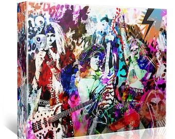 Steel Panther Art, Original Painting Canvas Art Print