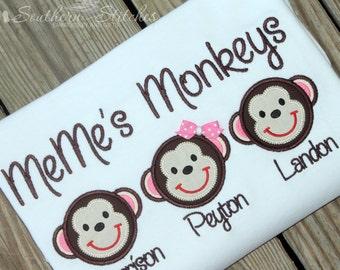 Grandma's Monkeys T-Shirt