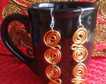Gold Metal Spiral Earrings