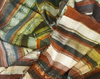 Split Wood Series  N0. 2 - Thick Dupioni Silk Unisex Scarf (approx. 11x60 inches) by Laura Elderton