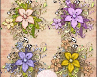 Florist Arrangement No.2 - Digital Printable Scrapbooking