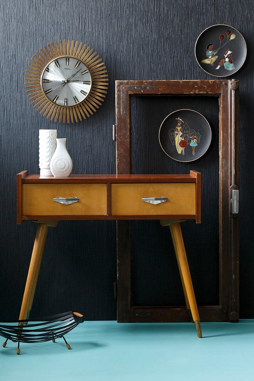 kleine kommode niedriger schrank sideboard beistelltisch 50er. Black Bedroom Furniture Sets. Home Design Ideas