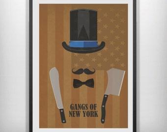 Gangs of New York minimalist movie  print
