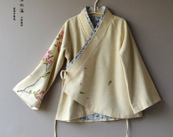 chinese style Hand-painted  Wool coat-Chinese Traditional  way of tailoring