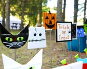 Fused Glass Halloween Garden Stakes