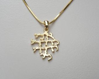 "Kabbalah jewelry for Love and Romantic , "" Ani L'Dodi V'Dodi Li"" (Shir HaShirim) Gold tone Charm"