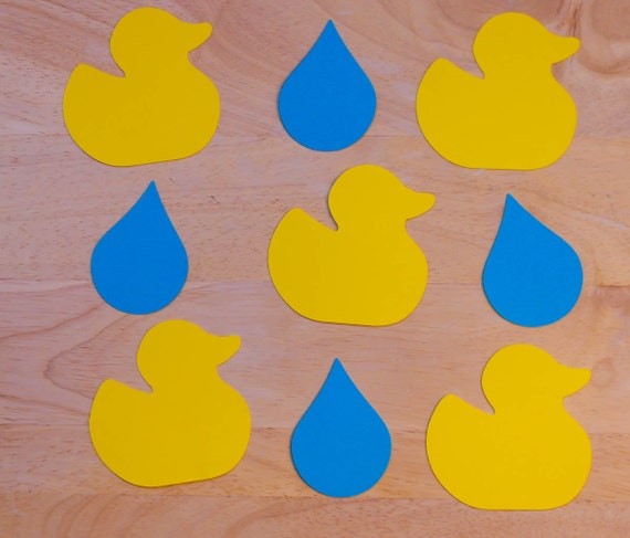 Ducks and Raindrops Paper Cutouts