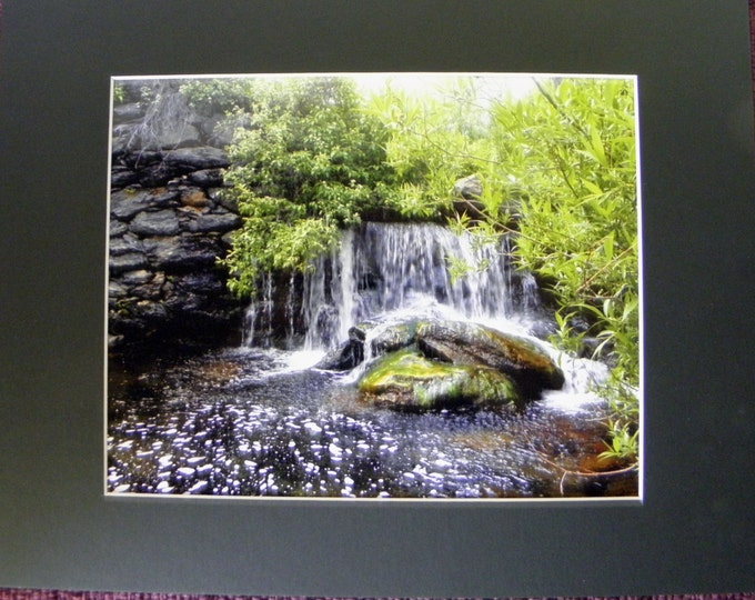 WATERFALL Landscape Nature Photography, Frame-Ready, Home, Cubicle OR Office Wall Decor, Gift Idea