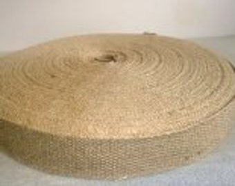 "1.5"" Inch Natural Jute Webbing 10 Yard roll"