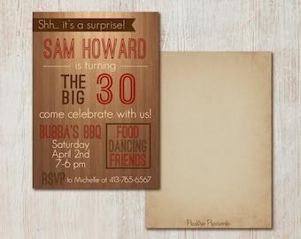 Manly Birthday Party Invitation