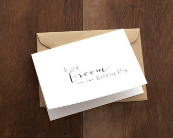 To my groom on our wedding day notecard